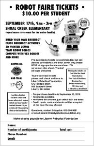 Robot Faire Ticket Info